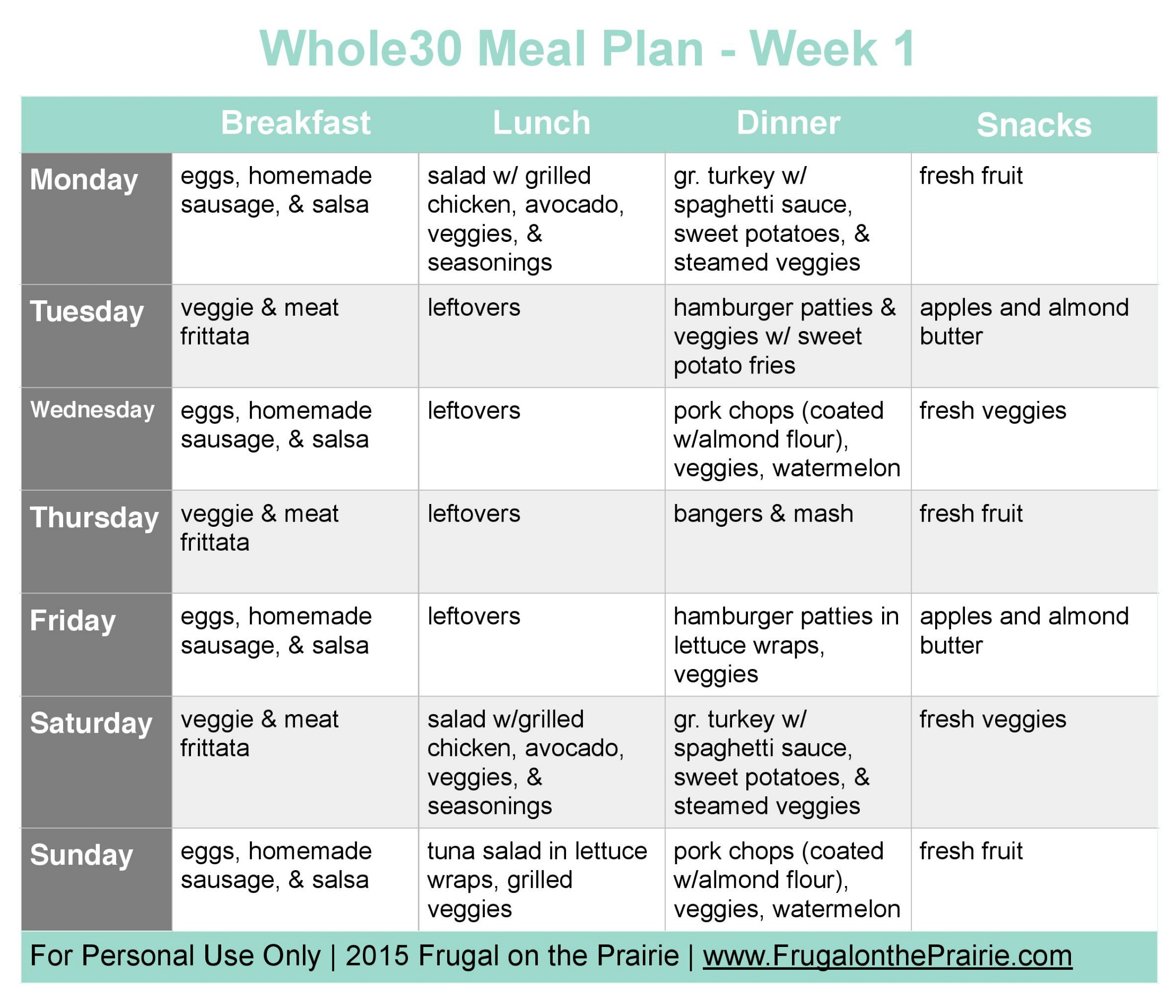 whole30 meal plan week 1 fotp square format original
