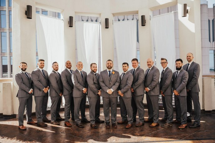 Groom & Groomsmen attire: Men's Warehouse