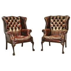 Leather Wing Chairs Luxury Dining Room Chair Covers George Iii Style Sophia Rose Antik