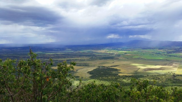 Rainy view from an overlook at Mesa Verde National Park