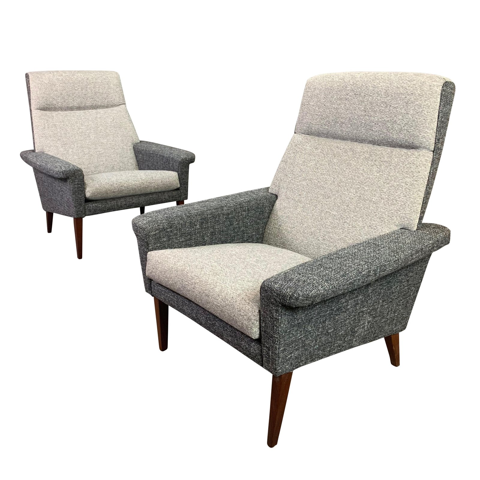 Danish Modern Lounge Chair Pair Of Vintage Danish Mid Century Modern Lounge Chairs