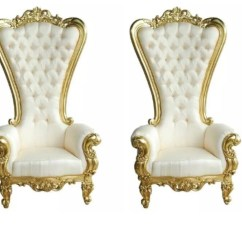 King And Queen Chairs For Rent Burlap Dining High Back Perfection Wedding Coordinating