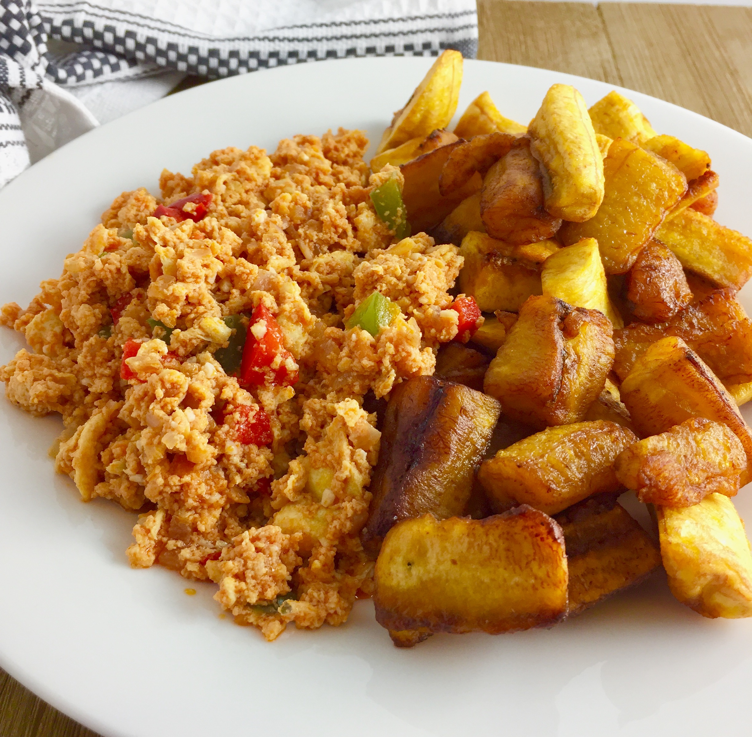 Plantain and Egg stew
