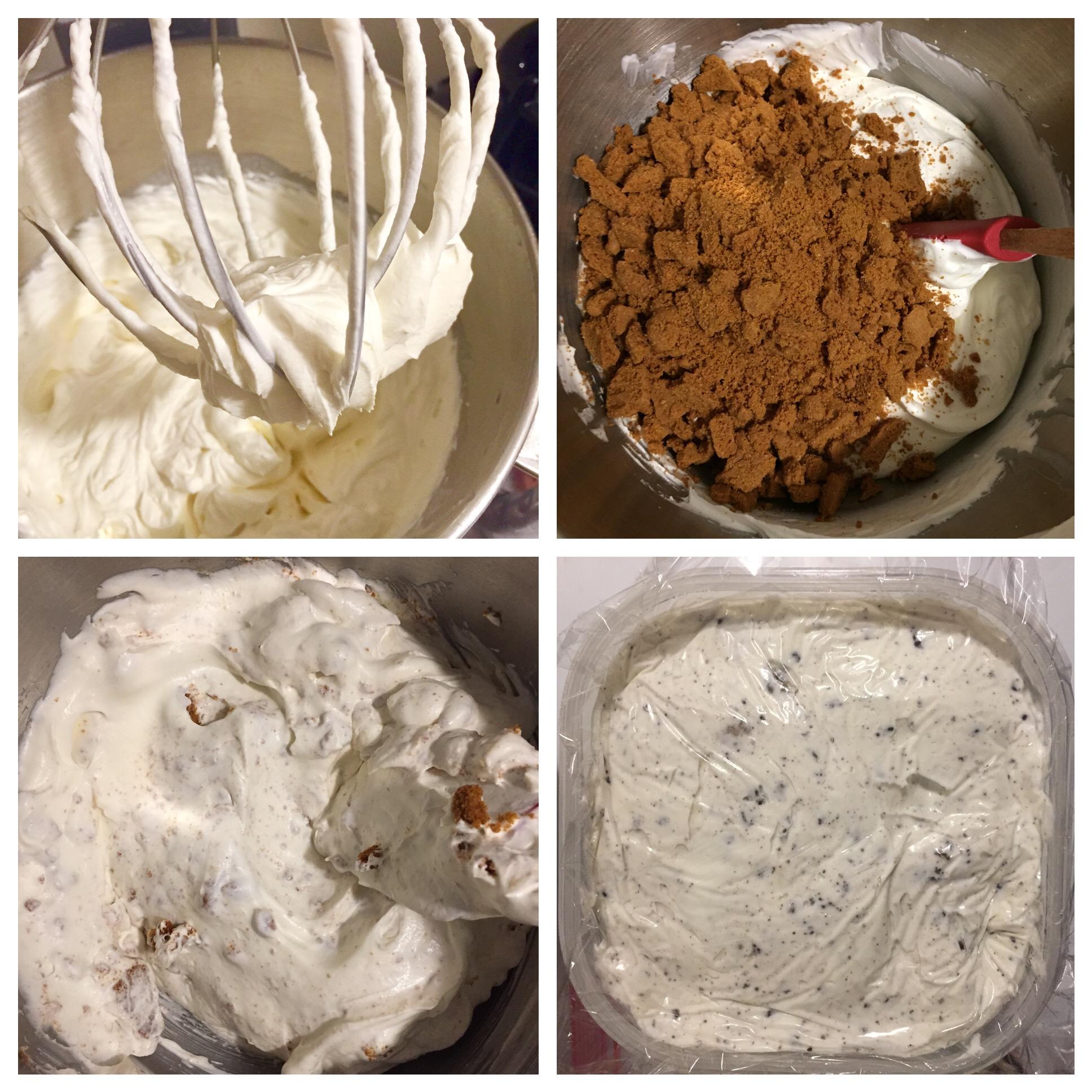 Biscoff cookies and cream ice cream