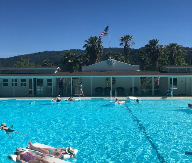 The Pool At Indian Springs Is Actually Filled With Water From The Natural Hot Spring