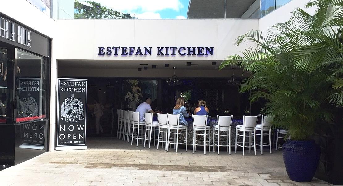 kitchen miami sink paint estefan opens in design district s palm court profile