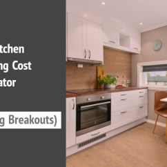Kitchen Calculator How Much Do Cabinets Cost The Top Remodel Of 2018 With Real Life Pricing Breakout Scroggs Construction Services