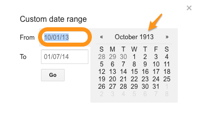 Great job, Google. You intuitively knew I wanted my custom search to start 80 years before the internet existed.
