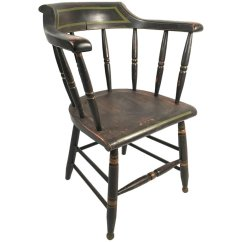 Captains Chair Gaming Pc Chairs Black And Green Painted Captain S Andrew Spindler Antiques 9694053 Master Jpg
