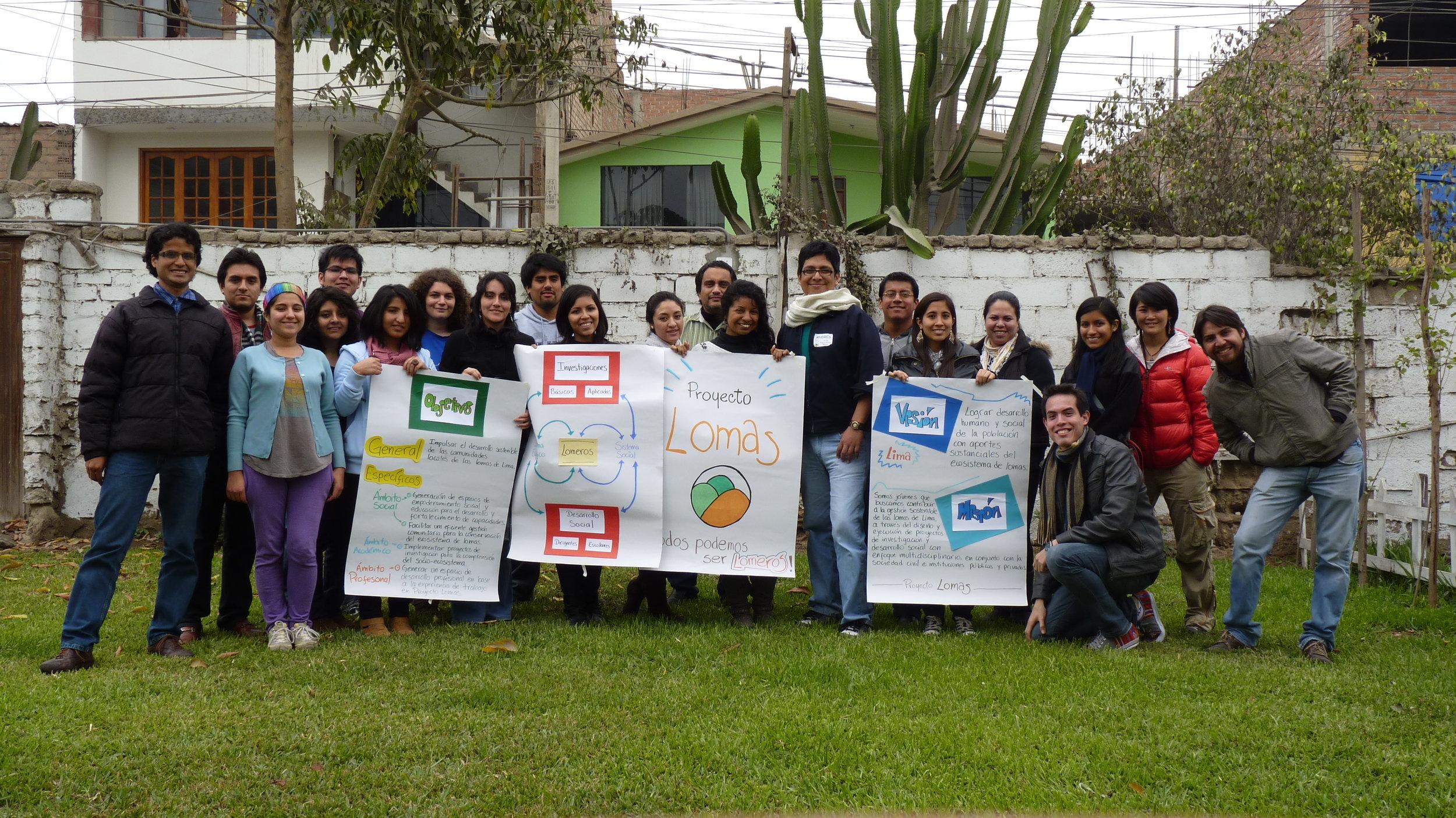 Tercera generación de Proyecto Lomas en taller de planeamiento estratégico, Lima-Perú (2013)