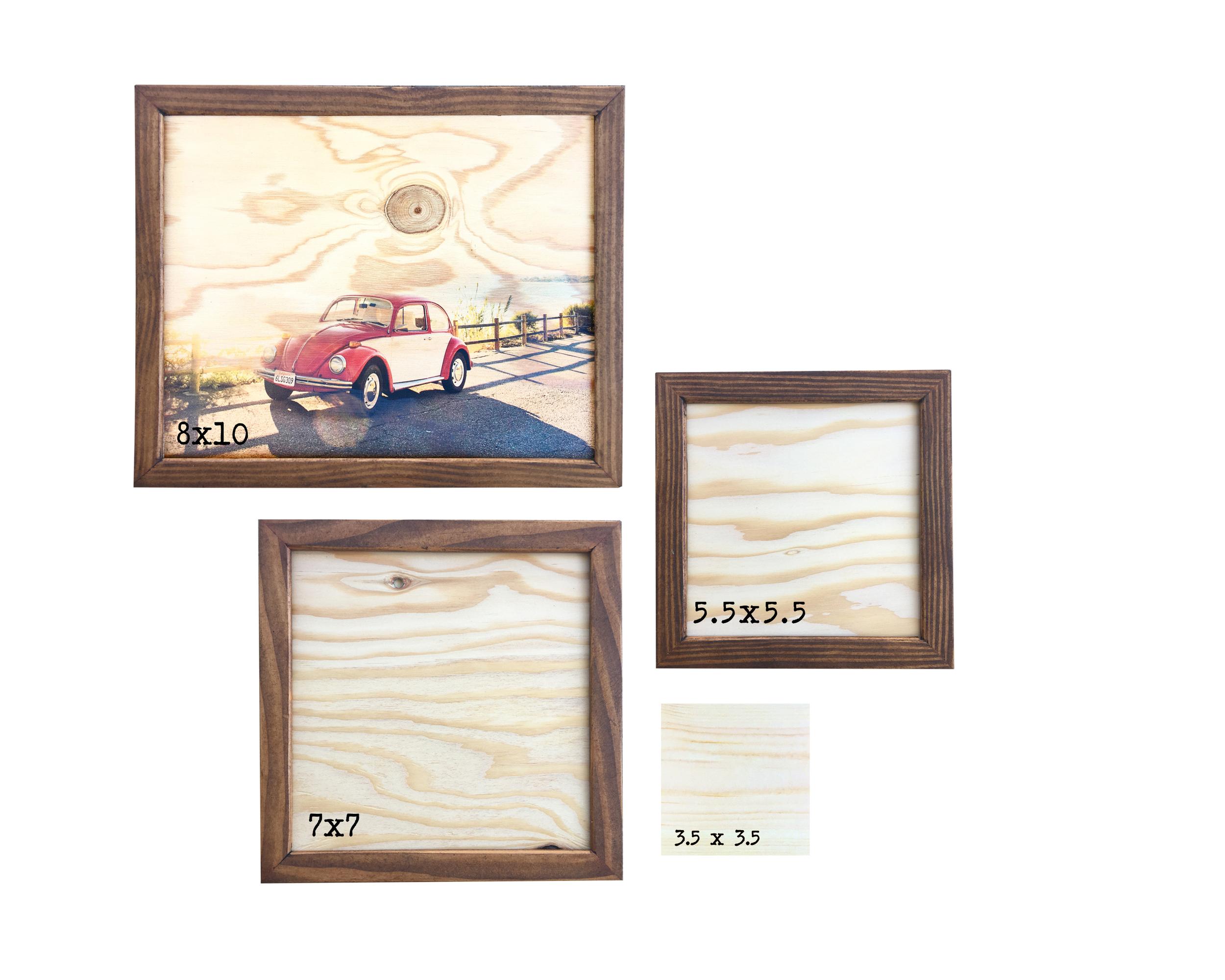 8 x 10 framed