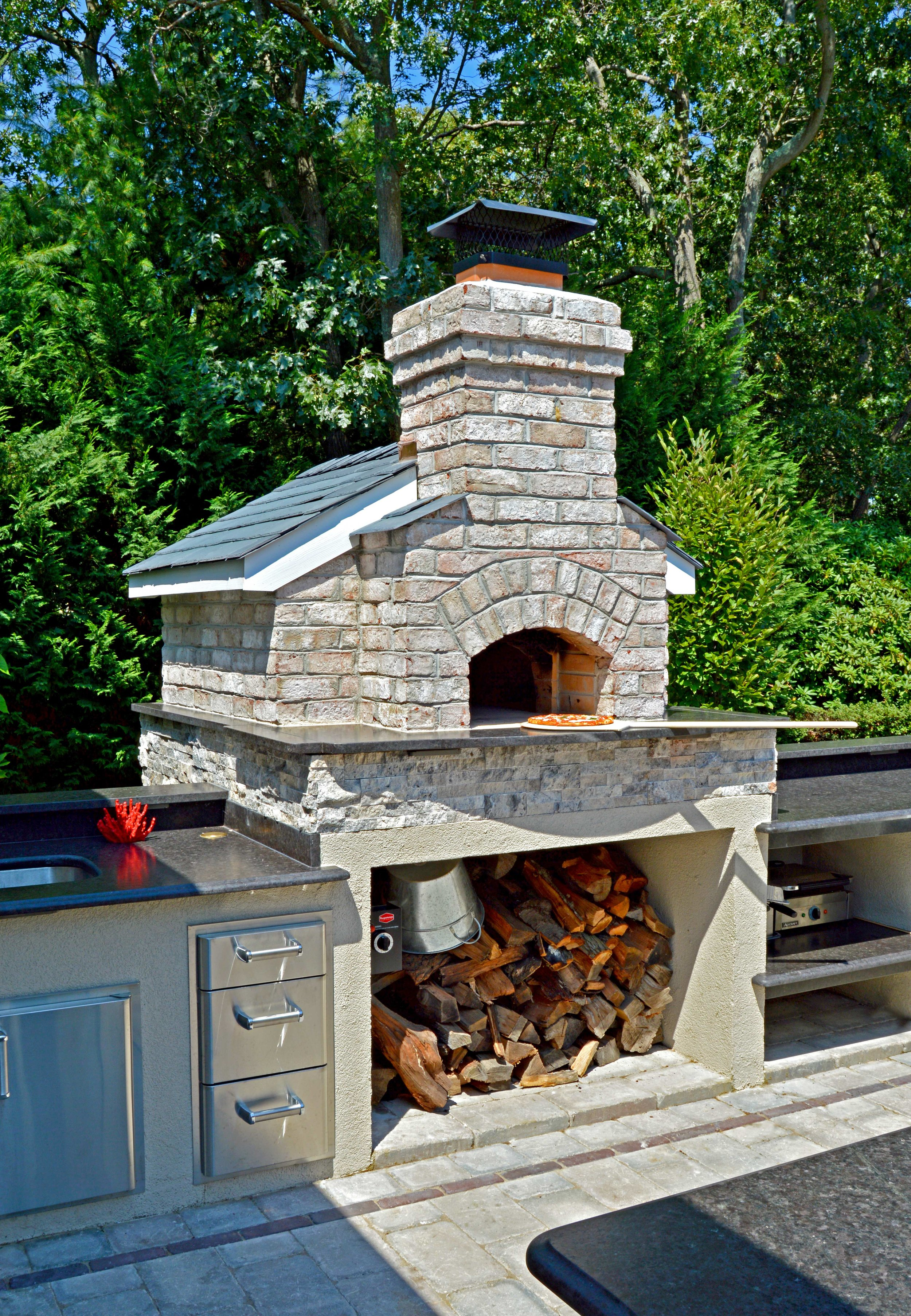 outdoor kitchen oven modular kitchens built in bbqs plainview ny long island and pizza