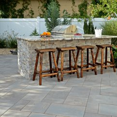 Outdoor Kitchen Bar Cream Colored Cabinets Kitchens In Plainview Ny Long Island Above All Masonry With A