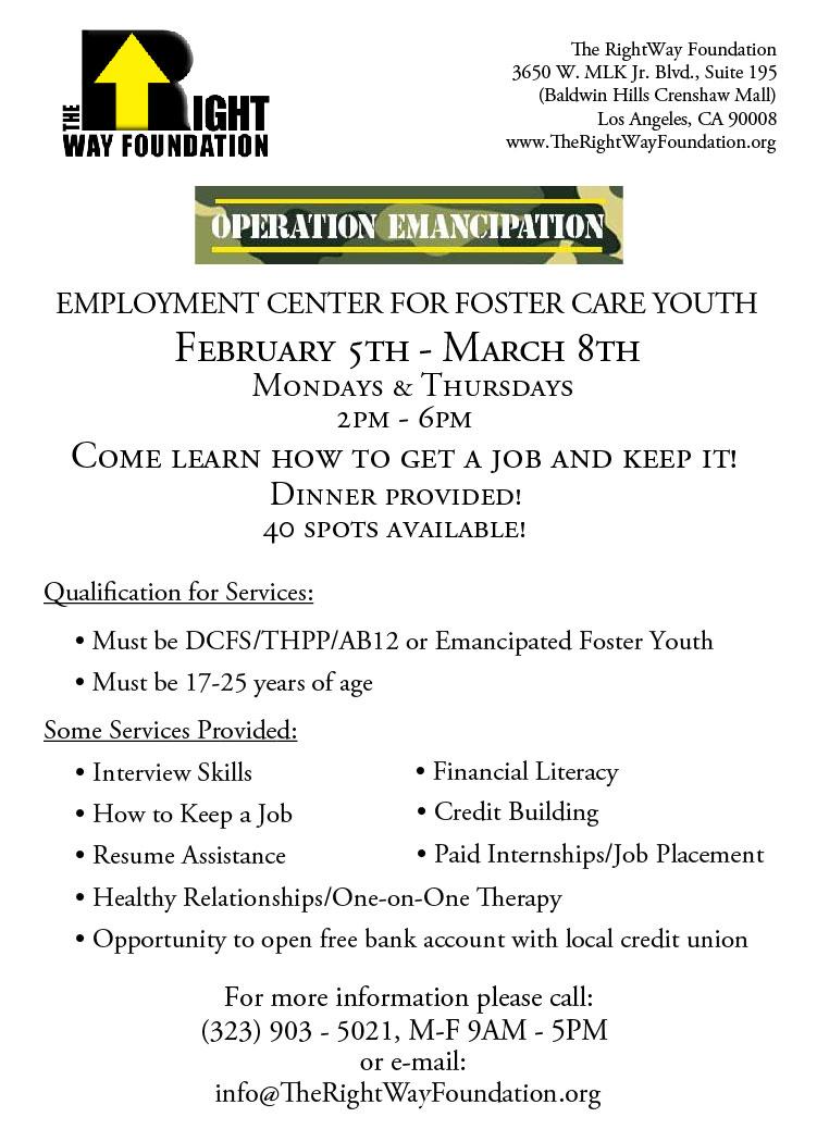 New Operation Emancipation Cohort Starting Soon