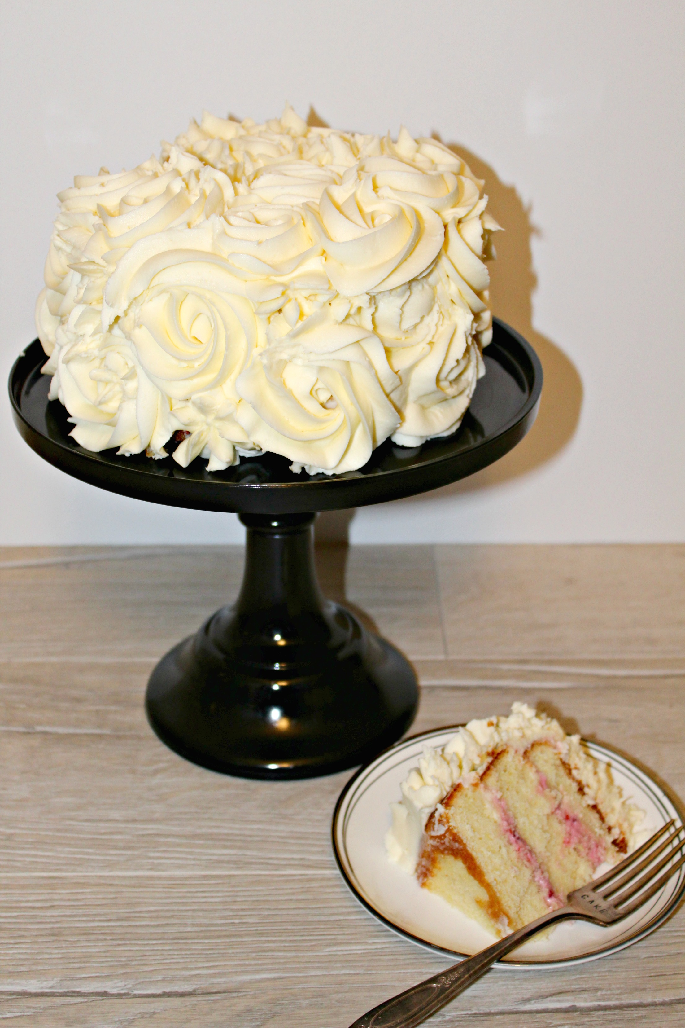 Lemon Raspberry Layered Cake By Jaclyn