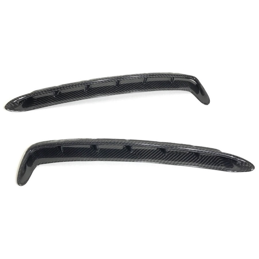 small resolution of carbon fiber front fender vents gt350