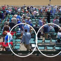 Folding Sports Chair Weird Rocking Kentucky Derby Package Seating Guide — Travel & Tickets