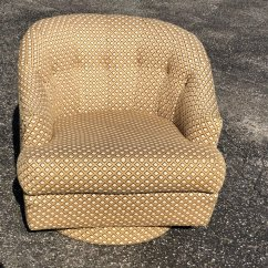 Swivel Club Chair With Ottoman Gliding Rocking Chairs Barrel Back By Directional Fleur De Lis
