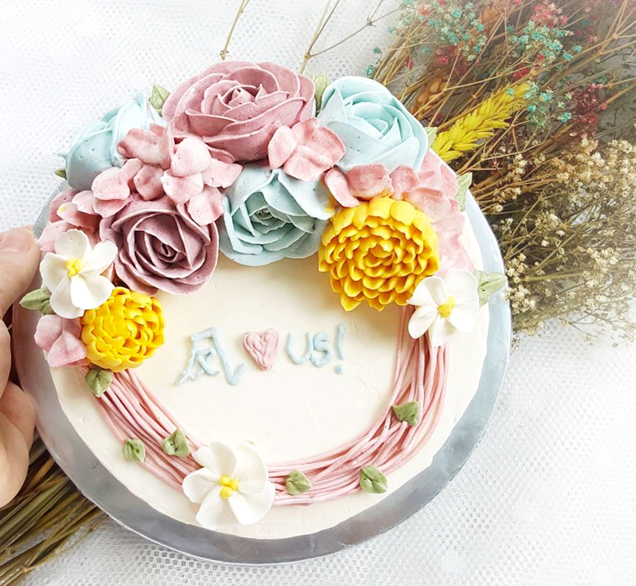 Floral Birthday Cake Design 2 The Premium Made To Order Cake
