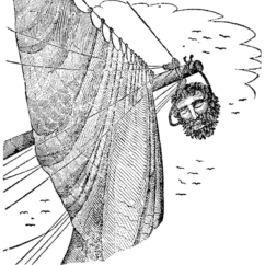 Parts Of A Pirate Ship Diagram 96 Jeep Grand Cherokee Radio Wiring Anatomy The S Glossary Terms Edward Teach Blackbeard Severed Head Hangs From Maynard Bowsprit As Pictured In Charles