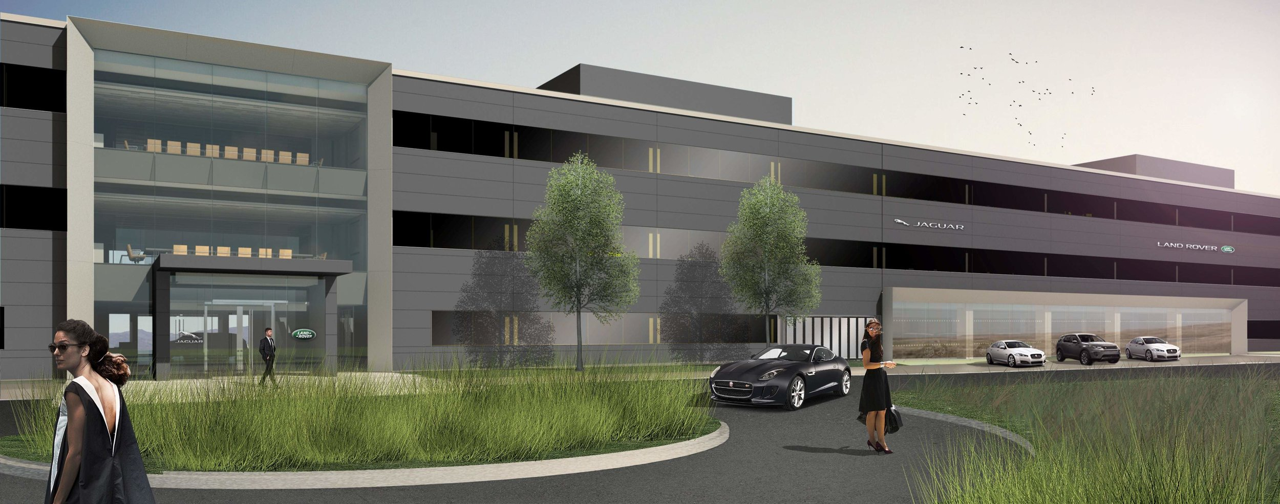 Jaguar s approval to customize expand new Mahwah HQ signs