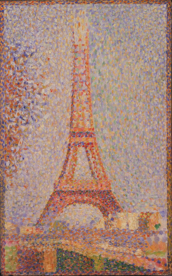La Tour Eiffel (seurat) : eiffel, (seurat), Eiffel, Tower, Georges, Seurat-, Famous, Handmade, Painting, Canvas, Paintings