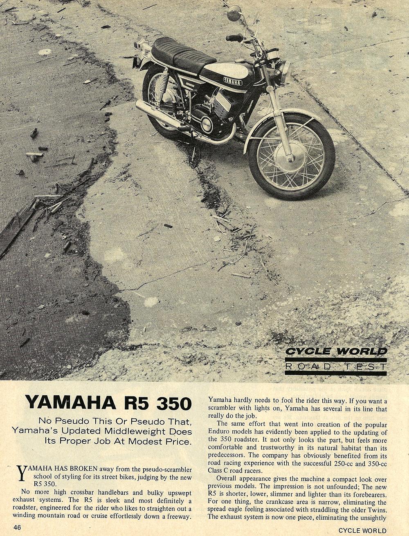 medium resolution of 1970 yamaha r5 350 road test 01 jpg