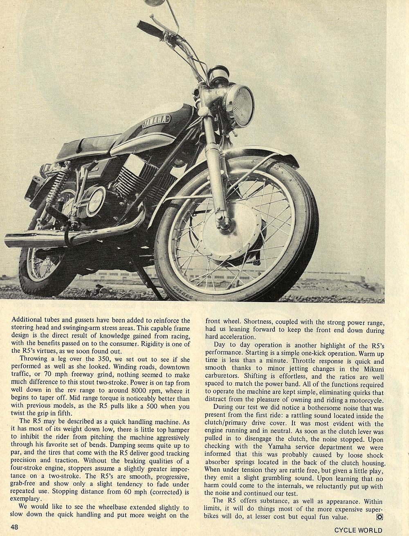 hight resolution of 1970 yamaha r5 350 road test 03 jpg