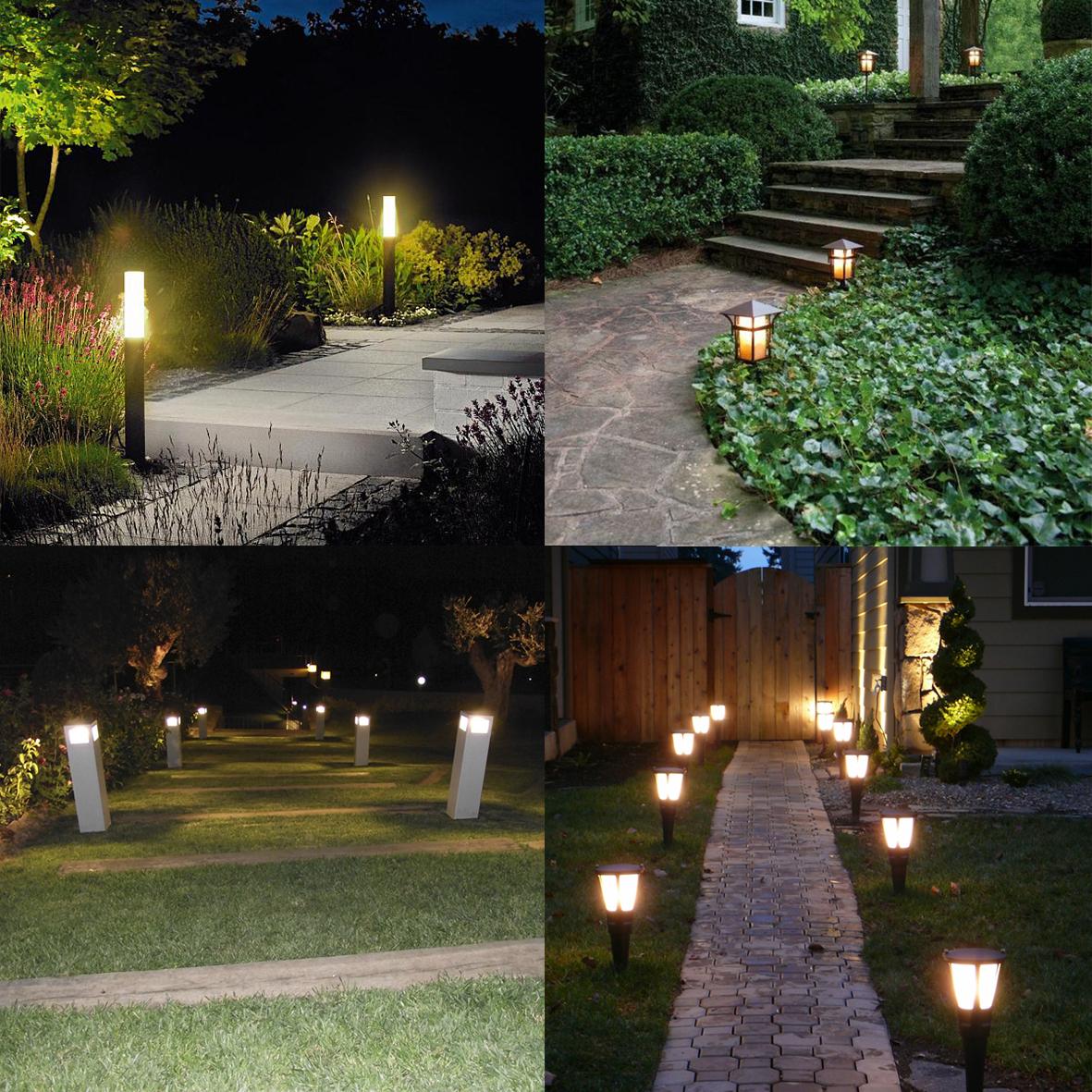 Jardines Iluminacin jardn y Jardn lateral t