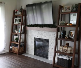 How We Made Our Own Leaning Bookcase Diy Home Projects