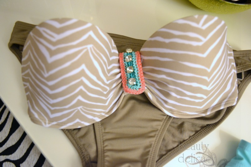 tan peach bikini
