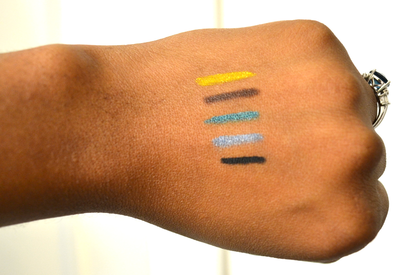 cf eye liner swatches