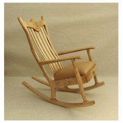 Handmade Rocking Chairs Glider Chair Covers Canada Custom Handcrafted Figured Maple Upholstered Seat