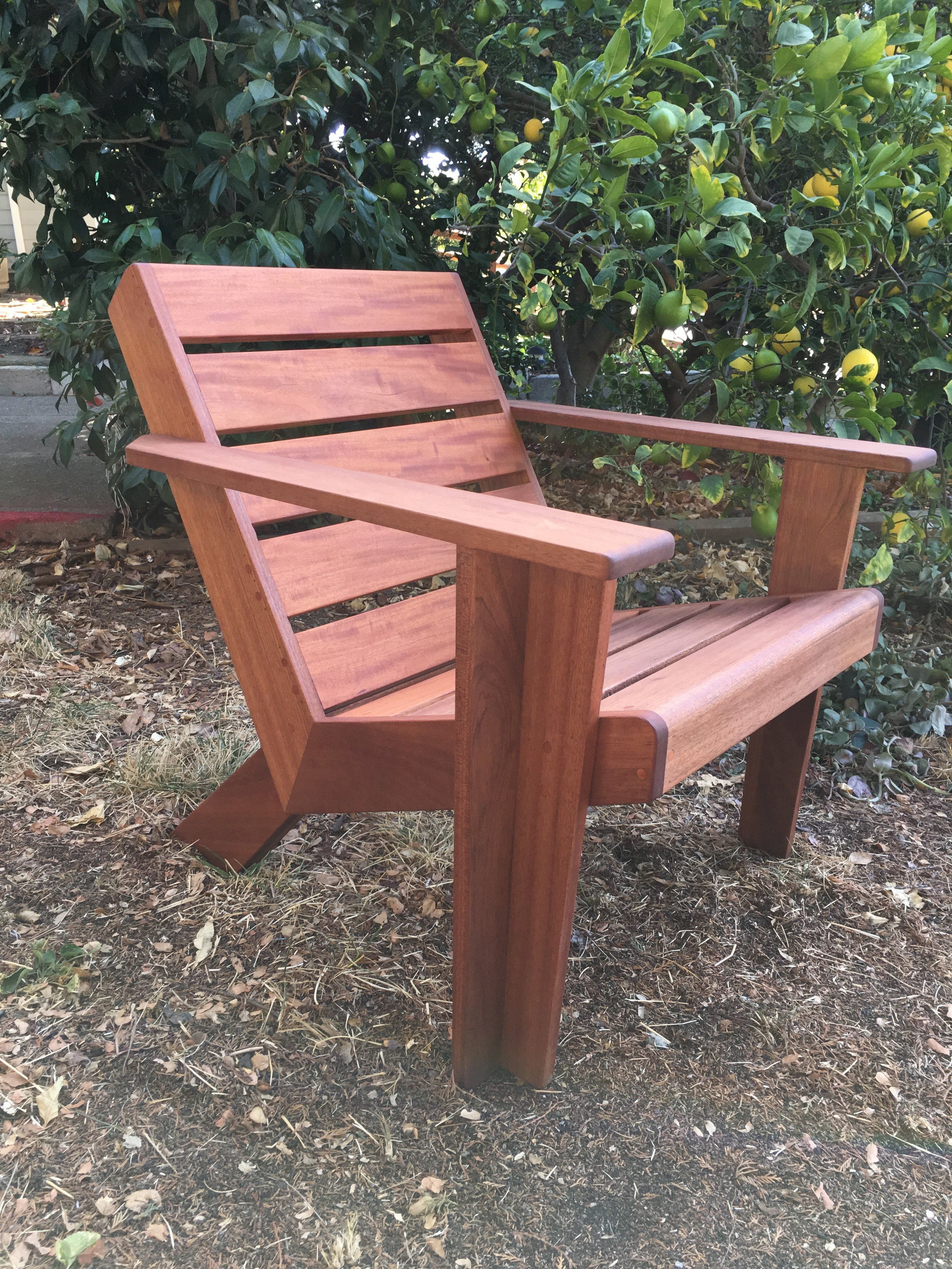 modern adirondack chair ergonomic no armrests noble bear furniture and home decor