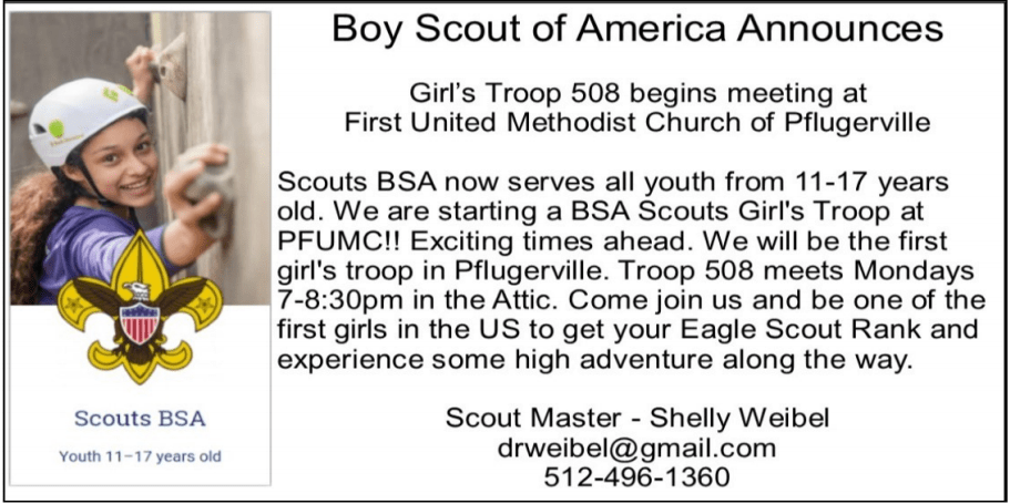 new girl scouts troop