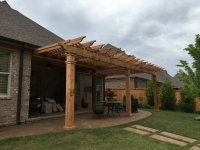 Attached Pergolas and Decks  Peaceful Settings