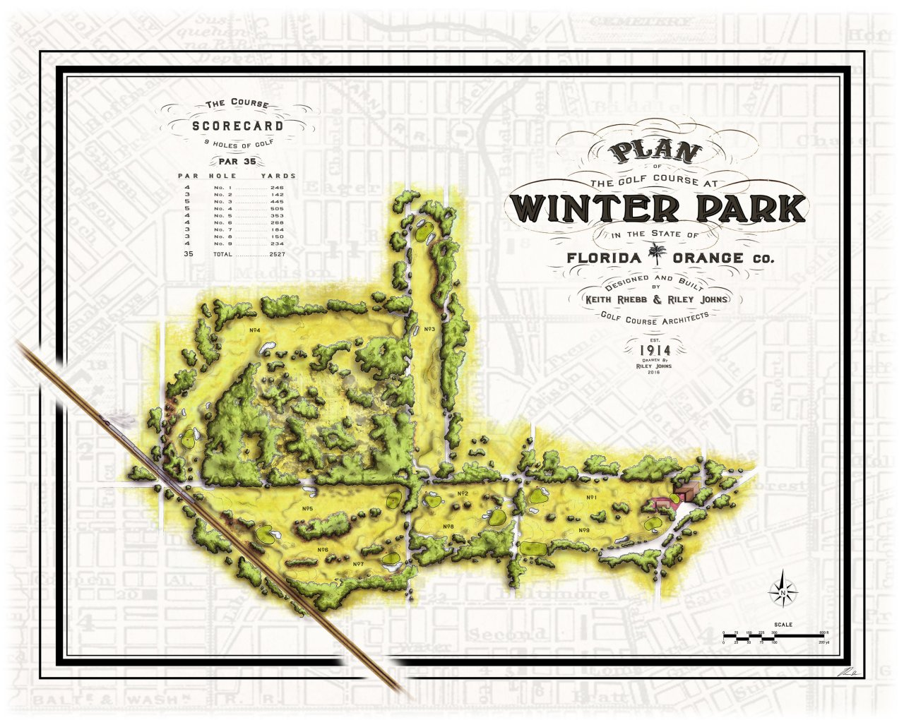 Winter Park Golf Course - Master Plan (drawn by Riley Johns)