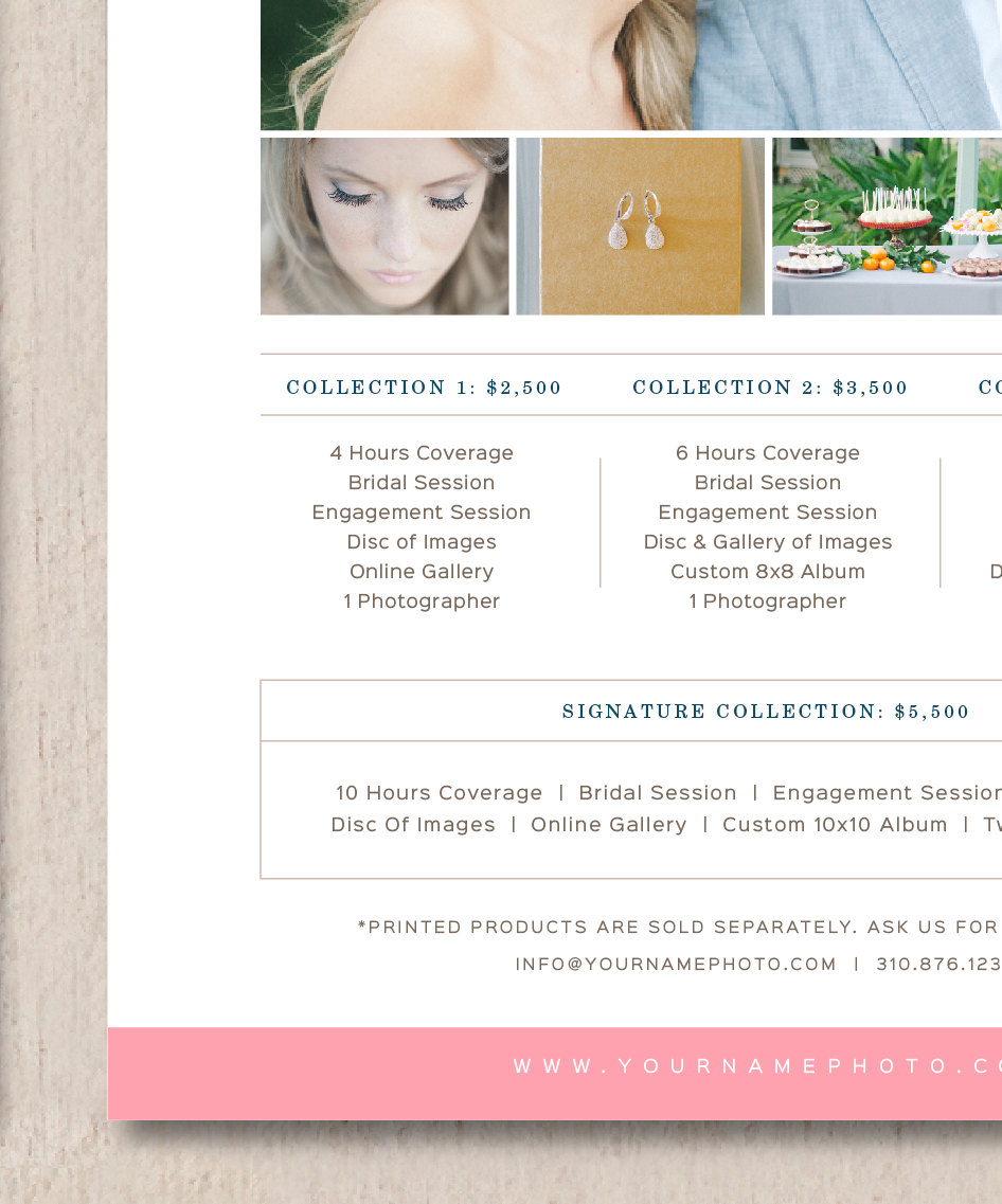 Photography Pricing Template Wedding Photographer Price List ...