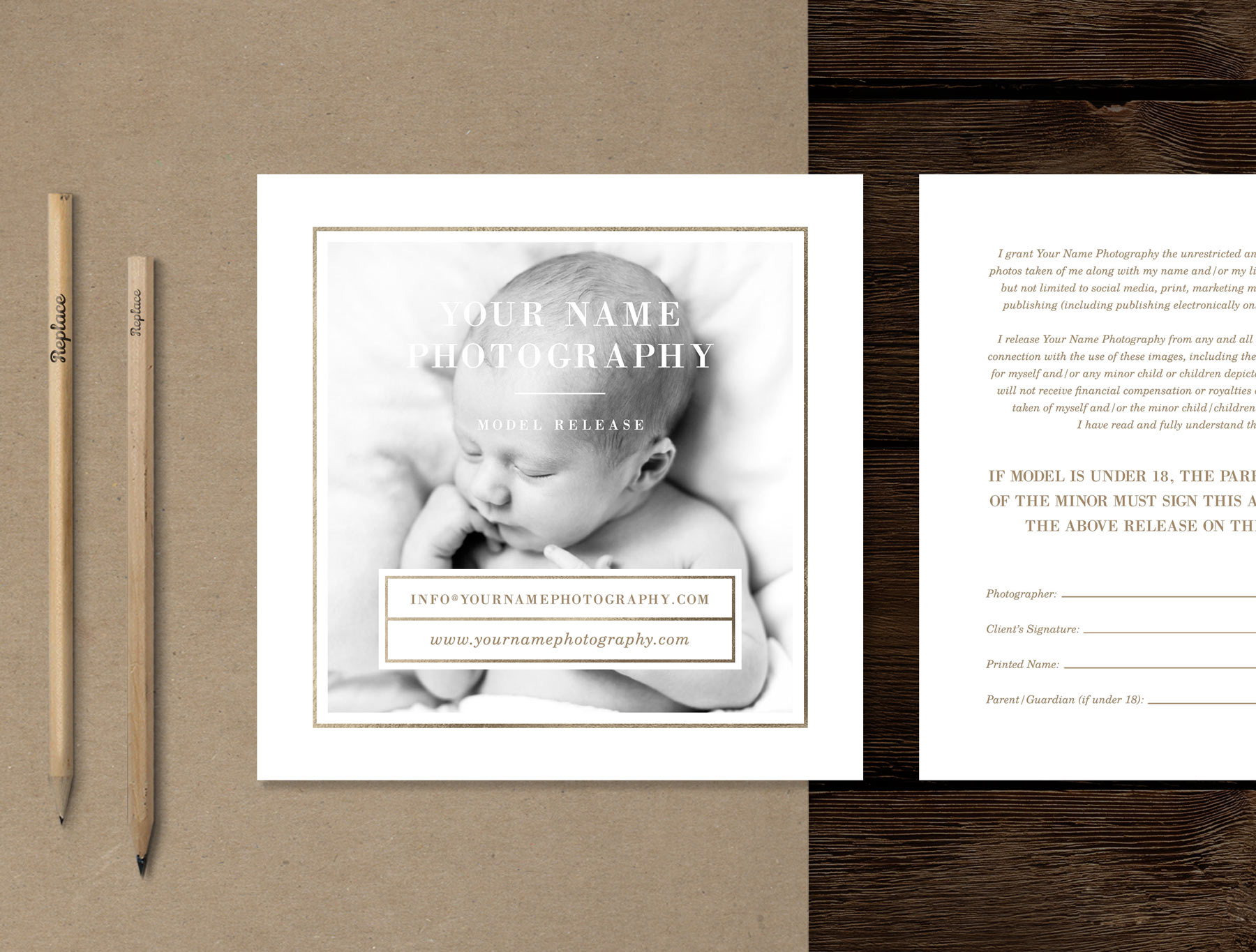 Newborn Photographer Model Release Form - Lily