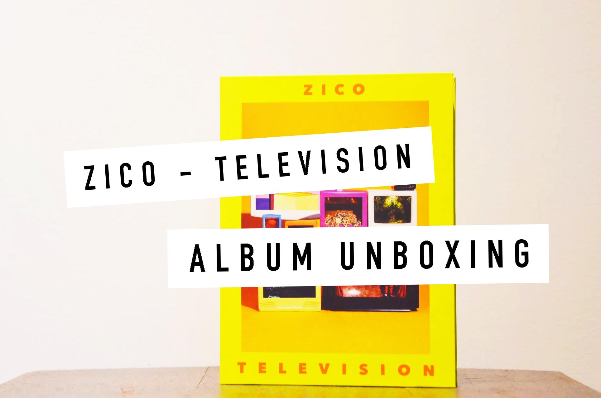 zico television album unboxing
