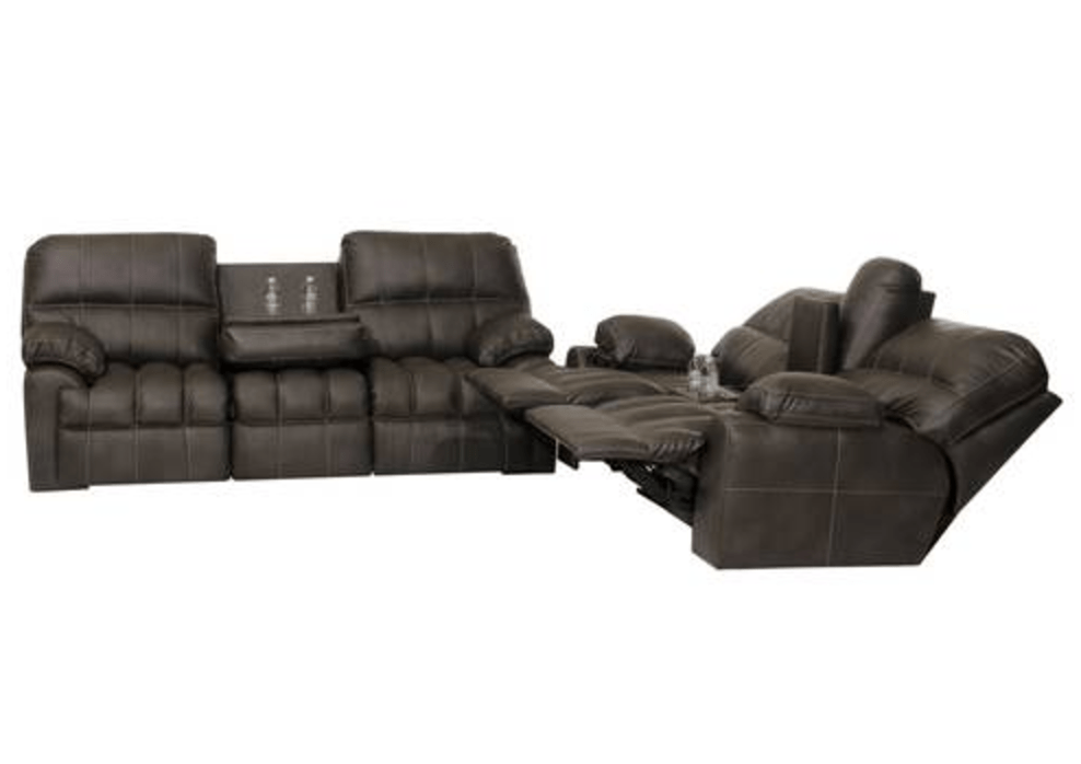liberty sofa and motion loveseat box 2 piece group in grey woodhaven