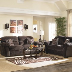 Woodhaven Living Room Furniture Country Rooms With Fireplaces Ultra Plush Ii 7 Piece Group In Champagne Chocolate