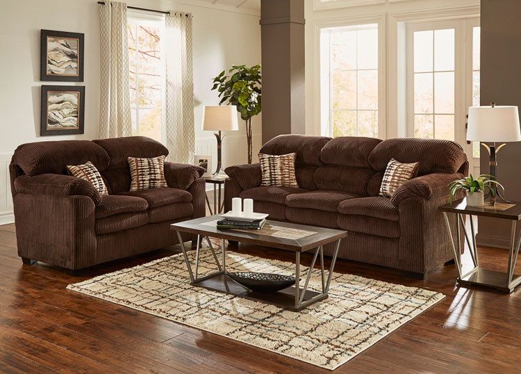 woodhaven living room furniture blue sofa set birmingham 7 piece collection