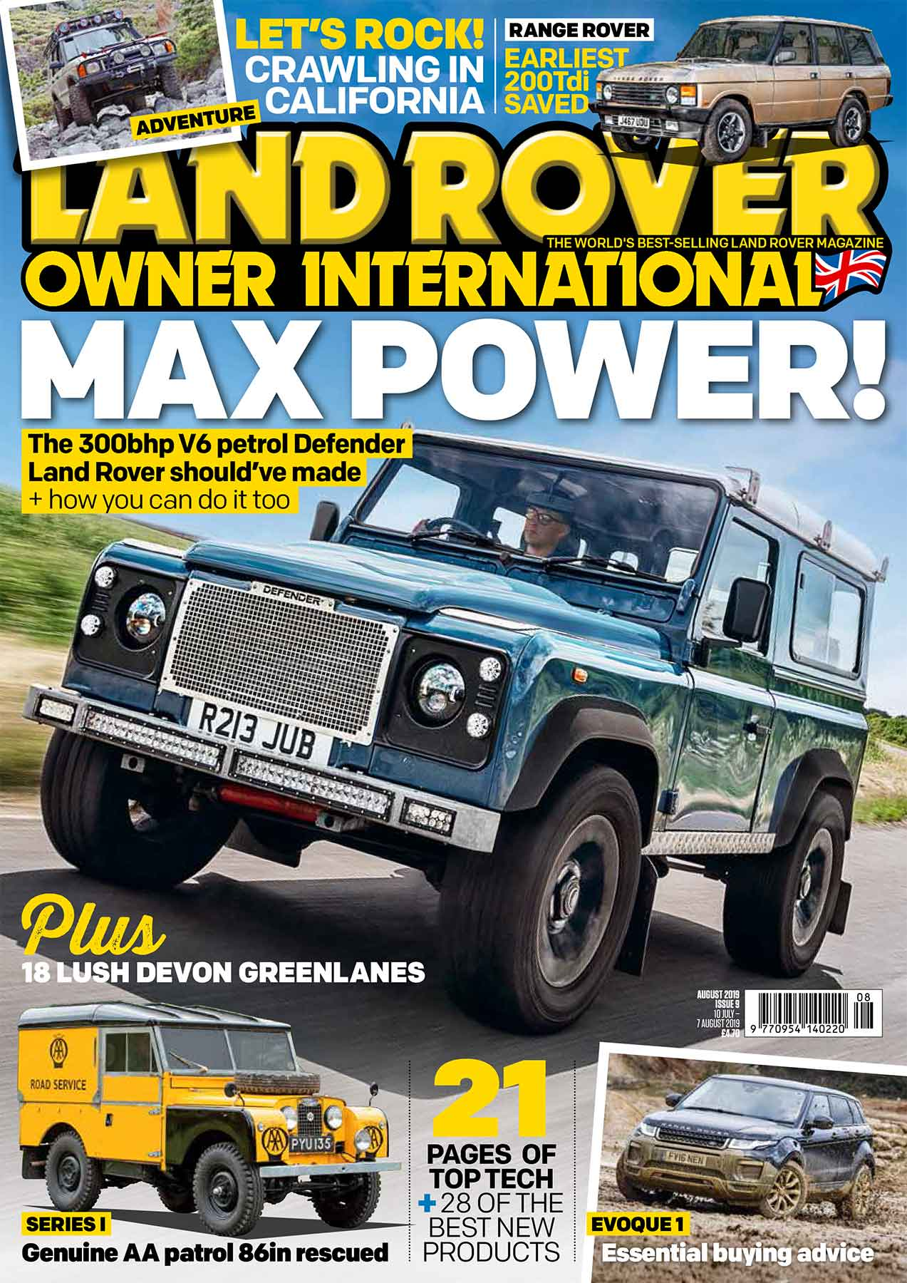 land rover owner international magazine august 2019 [ 1273 x 1800 Pixel ]