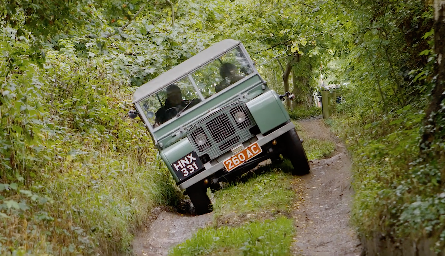 small resolution of watch a 1948 series i on solihull s jungle track with a rather special passenger