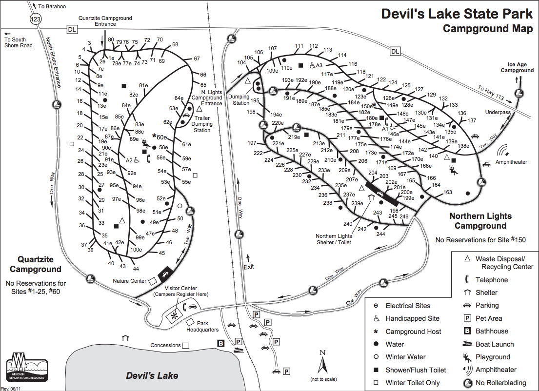 Devils Lake Camping Info: Campground Descriptions and Maps