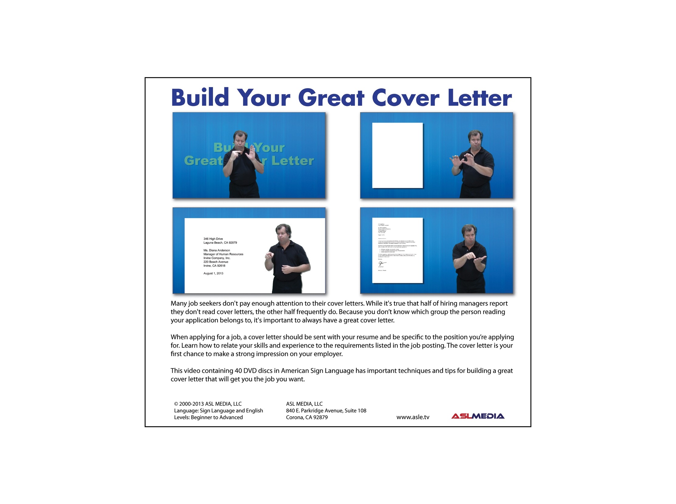 Video Clerk Cover Letter Job Success Build Your Great Cover Letter 40 Dvd Discs First Version