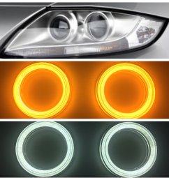 v3 round angel eyes for bmw z4 e85 e86 others switchback white bavgr ppe designs [ 1000 x 1000 Pixel ]