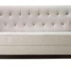 Emma Tufted Sofa Brown Leather With Chaise Sofas Banquette Seating Meritage Events Immersive Experiences Linen