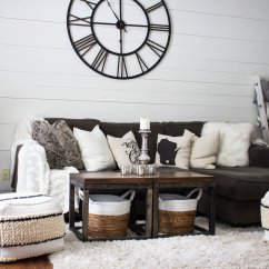 Living Room Clocks Next Simple Designs Pictures Small House Classic Paint Scheme Gray White Balkanina Shiplap Wall Dove By Benjamin Moore It Is To Revere Pewter